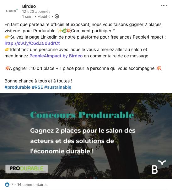 Bekomer_Birdeo_LinkedIn_concours_produrable
